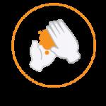 covid icon spala mainile